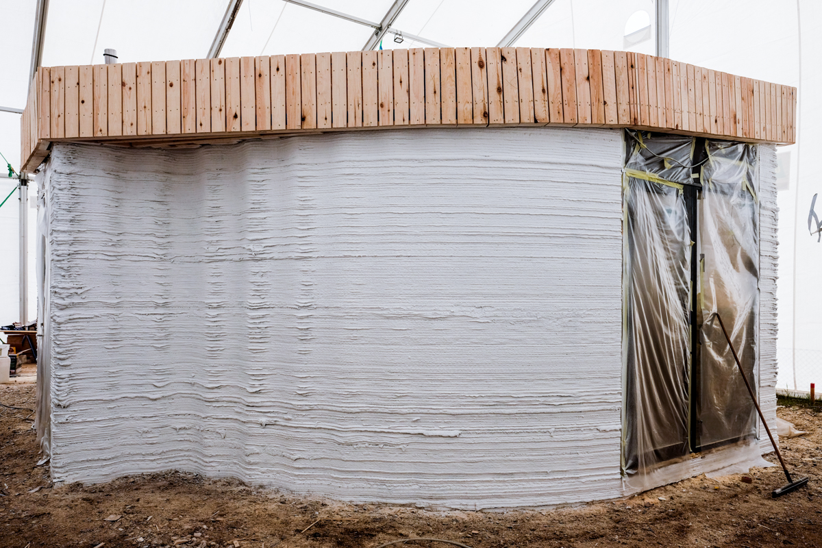 The BOD - 3D construction printed house in progress