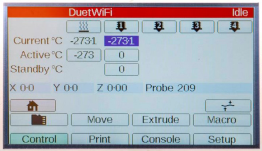 The BOD2 touch panel interface