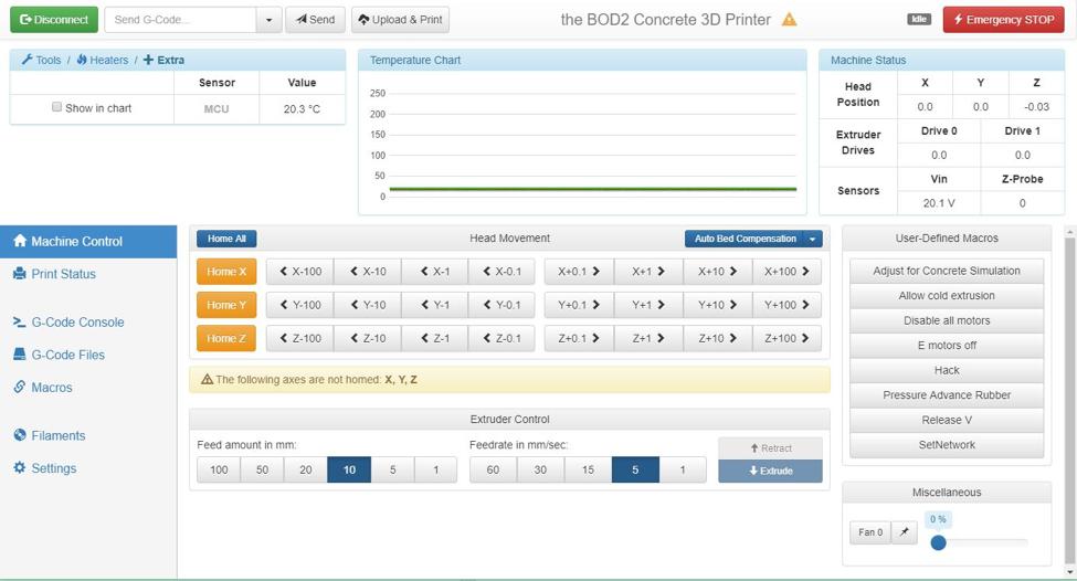 The BOD2 web interface